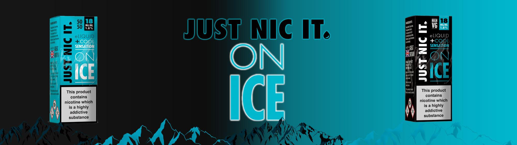 Just Nic It on ice banner