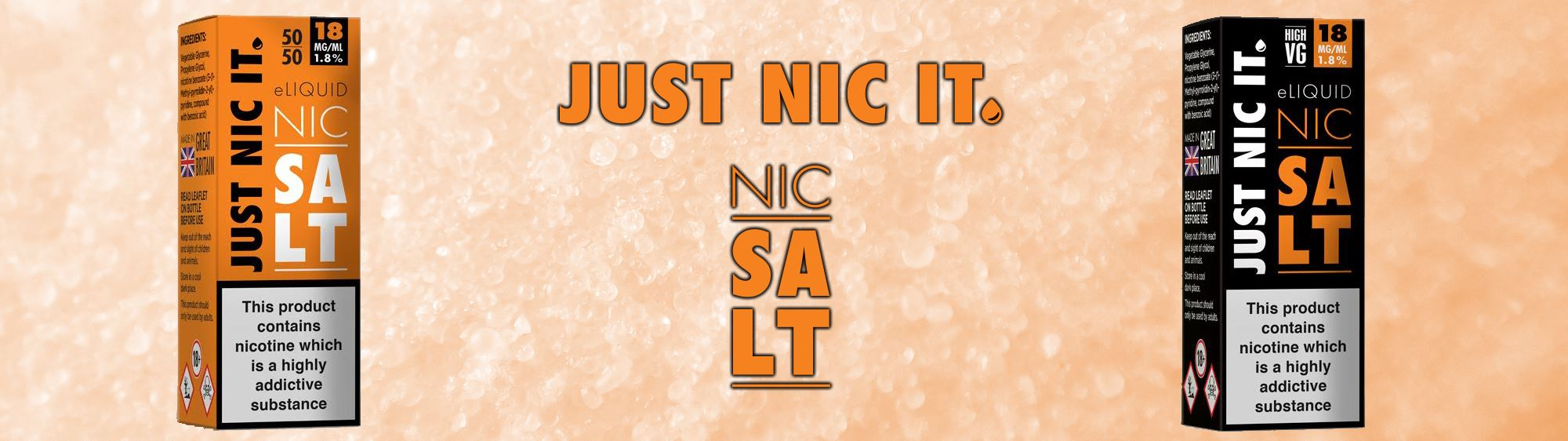 Just Nic It banner nic salt